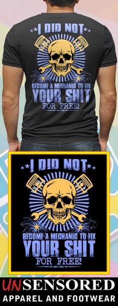 Free Mechanic - Grab our brand new Shirts! Not Sold In Stores. Only  available 9e8d0dbd0