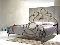 Wrought Iron Flower Bed Edging | Wrought iron bed Hotel - Price - Anemone by Letti Cosatto Srl
