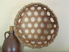 Shaker Cheese Basket Primitive Reproduction by 1803ohiofarmbaskets