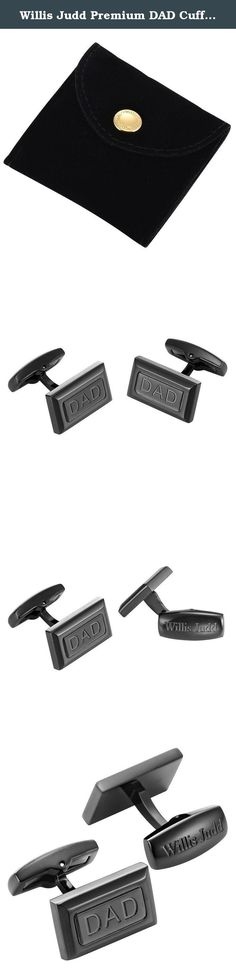 Willis Judd Premium DAD Cufflinks, Black Stainless Steel with Gift Pouch. Willis Judd is proud to be introducing our premium cufflinks collection. These cufflinks are black stainless steel with a simple and classic design. This creates a pair of stylish cufflinks that will be a great addition to a wardrobe. These cufflinks feature the word 'Dad' and will make a perfect gift whatever the occasion. Willis Judd takes pride in providing great products, and we will post this in a gift pouch -...