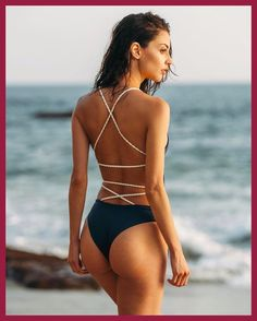 6583fb37c7 Hot Sale Yellow Backless One Piece Swimsuit Lady Sexy Bandage String  Maillot de Bain Solid Padded Lady Brazilian Push Up