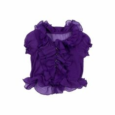 Trish Scully Child Purple Damask Purple Ruffled Blouse only $46.00 - New Items