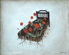 """""""Poppy Bed"""" #rebouche #rebeccarebouche 2009 …because he taught me how to love."""