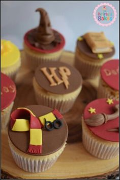 Harry potter themed cupcakes
