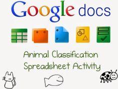 Using google spreadsheet to create collaborative list of animals.