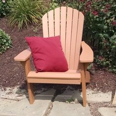 Outdoor A & L Furniture Recycled Plastic Fanback Adirondack Chair