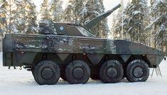 Минометная система AMOS на шасси Patria AMV финской армии