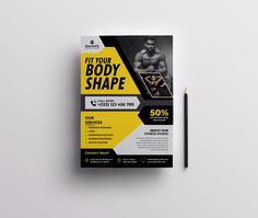 This is outstanding and high-quality Fitness Gym flyer designs. Promote your upcoming Fitness Gym promotion event with this design. Thank You Fitness Flyer, Fitness Studio, Flyer Template, Body Shapes, Flyer Design, Gym Workouts, Promotion, Templates, Stencils