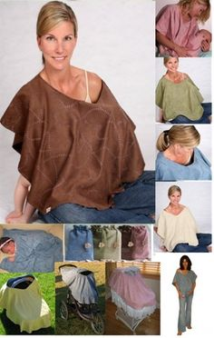 Image detail for -Nursing Covers: Nursing Poncho Shawl - Cover Up with Nursing Tops