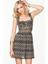 Baroque Lace Fit N Flare Dress