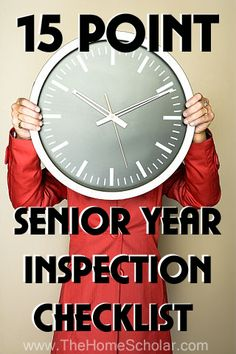 15-Point Senior Year Inspection Checklist -- It's complicated, but not difficult. Use this simple checklist to make sure you aren't missing any pieces.