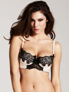 51ae89a6096a8 Amy Shell Black Balconette Bra - Buy Online at Ann Summers Obsessive  Lingerie