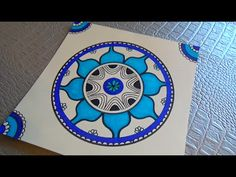 Tuto art-thérapie: Dessiner un mandala intuitif - YouTube