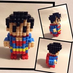3D Superman perler beads