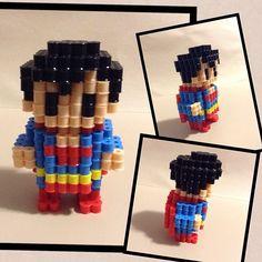 3D Superman perler beads