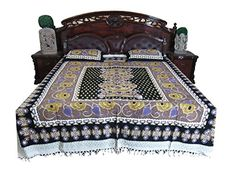 Boho Bedspread- Indian Bedding Mandala Cotton Bedcover 3p set Mogul Interior http://www.amazon.com/dp/B010VCSFX0/ref=cm_sw_r_pi_dp_sdftwb1D785AM