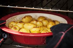 Parisian potatoes baking in the Fornetto. http://fornetto.com/blog/the-many-facets-of-minced-meats-part-1/