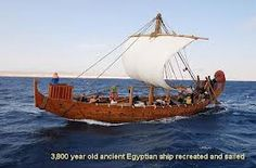 Replica of a 3500 year old Egyptian sailing vessel.