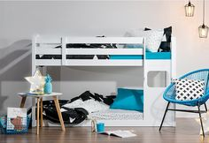 Captain Jack Single Cabin Bunk Bed   Super Amart We've just bought this bunk and looking forward to creating a gorgeous white bedroom and study. Bunks are low so they are good for younger kids as well. JG
