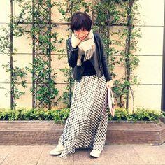 今日のコーデ。春買ったマキシスカートを冬仕様に。 の画像|山本あきこオフィシャルブログ「見た目チェンジで人生が変わる」Powered by Ameba