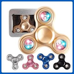 10x metal Rainbow Fidget doigt Spinners main Focus SPIN aluminium Stress Jouet uk