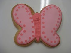 Pink Butterfly Cookie by Flour & Sun, via Flickr #butterfly #cookie #flourandsun #pink #bakery