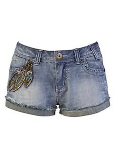 Pixie Loves Lipsy Embellished Denim Short from Very.co.uk