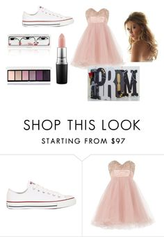 """""""besties prom"""" by shidaynecross on Polyvore featuring Converse, Anoushka G, MAC Cosmetics, women's clothing, women, female, woman, misses and juniors"""