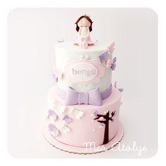 Kelebekli doğumgünü pastası   Mia Atölye