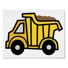 Shop Cartoon Clip Art Dump Truck Boy Birthday Party Invitation created by kidsclipart. Personalize it with photos & text or purchase as is! Truck Coloring Pages, Truck Paint, Construction Birthday, Kids Construction, Toy Trucks, Dump Trucks, Gifts For Boys, Impreza, Boy Birthday
