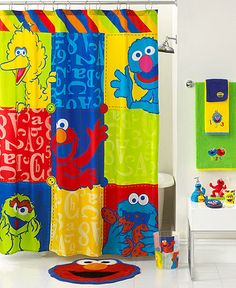 Jay Franco Bath, Sesame Street Retro Collection - B is for bath time! Decorating the bath is as easy as 123 with this classic Sesame Street Retro bath collection. Elmo, Cookie Monster and the whole gang all in bright hues make this a must-have collection for kids. (WANT this whole set!!! MH)