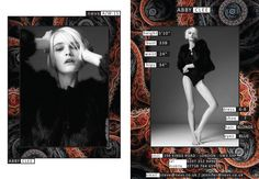 Abby Clee AW15 show card. #London #AW15 #LondonFashionWeek #LFW #models #girls #runway #nevsshows #nevswomen