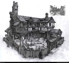 The wood house 2 by Natalia Babiy | 2D | CGSociety