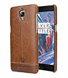 Pierre Cardin Genuine Leather back Cover For oneplus 3t (13) (Brown) by jazz