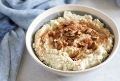 An oat-free Paleo oatmeal made with coconut. A nourishing and delicious breakfast!