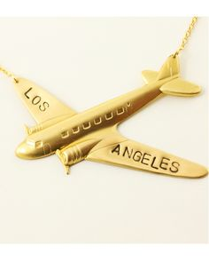 Los Angeles BIG Plane Necklace