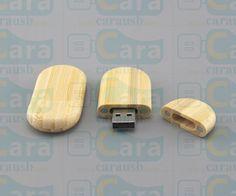Wood oval flash disk 8GB usb 2.0 version