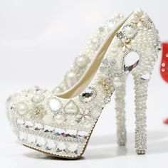 Find More Information about 2014 Fashion Luxurious pearl rhinestone wedding high heels platform shoes bridal thin heels flower diamond,High Quality diamond titanium,China diamond ring wedding favors Suppliers, Cheap shoe black from Fashion ABC Shopping on Aliexpress.com
