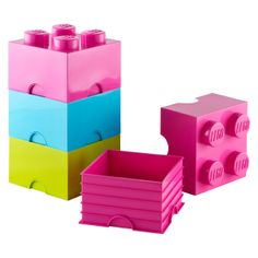Our NEW Pastel LEGO® Storage Bricks aren't simply containers - they can also be used to build oversized LEGO® creations!