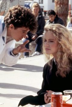 "Patrick Dempsey and Amanda Peterson in ""Can't Buy Me Love"" (1987)."