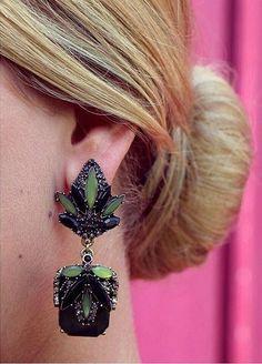 Forest Flower Statement Earrings 15,90 € #happinessbtq