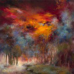"Saatchi Online Artist Rikka Ayasaki; Painting, ""Boulogne forest 20 (Painted in 2012, 70x70x5cm) "" #art"