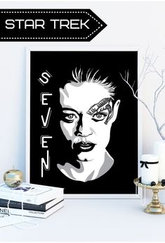 This stunning Star Trek poster is a must for any Star Trek Voyager fan, who admires the Seven Of Nine character...