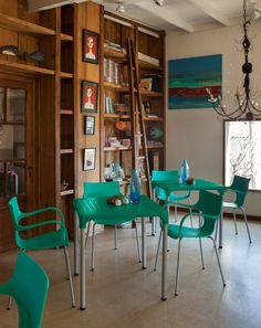 Comedores diseño moderno y vintage. muebles de exterior e interior. color aqua  - turquesa - verde agua