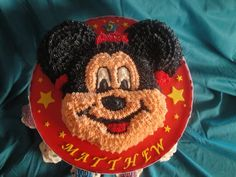Mickey Mouse cake for my nephews birthday x
