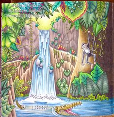 Magical Jungle. First Double Page Spread. – La Artistino – Peta Hewitt