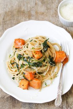 Brown Butter Spaghetti with Roasted Butternut Squash