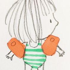 #doodleoftheday #waterwings #3b ✏️ #sharpie