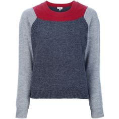 KENZO colour block jumper ($200) ❤ liked on Polyvore