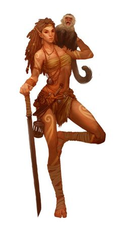 by Denman Rooke - Elf Transmuter character design for Paizo Publishing's Pathfinder NPC Codex.